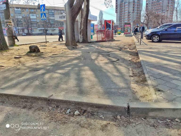 Де у Нікополі відремонтують тротуари за 1,3 млн: адреси